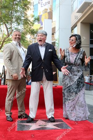 Matt LeBlanc, Stacy Keach, Malgosia Tomassi Keach. Matt LeBlanc, from left, Stacy Keach and Malgosia Tomassi Keach get excited atop a star following a ceremony honoring Stacy Keach with a star at the Hollywood Walk of Fame, in Los Angeles