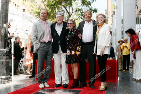 Stacy Keach (2-L) poses with relatives during the unveiling ceremony of Keach's star on the Hollywood Walk of Fame, in Hollywood, California, USA, 31 July 2019. Keach received the 2,668th star on the Hollywood Walk of Fame, dedicated in the Category of Television.