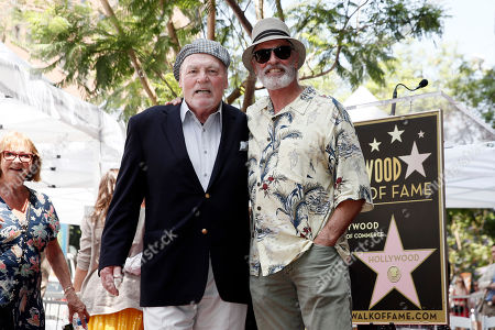 Stacy Keach (L) poses with US actor Keith Carradine during the unveiling ceremony of his star on the Hollywood Walk of Fame, in Hollywood, California, USA, 31 July 2019. Keach received the 2,668th star on the Hollywood Walk of Fame, dedicated in the Category of Television.