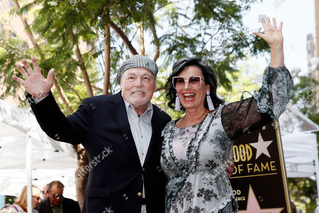 Stacy Keach (L) poses with his wife Malgosia Tomassi Keach during the unveiling ceremony of his star on the Hollywood Walk of Fame, in Hollywood, California, USA, 31 July 2019. Keach received the 2,668th star on the Hollywood Walk of Fame, dedicated in the Category of Television.