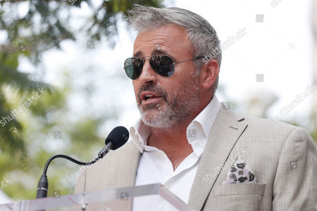 Matt LeBlanc delivers a speech during the unveiling ceremony of US actor Stacy Keach's star on the Hollywood Walk of Fame, in Hollywood, California, USA, 31 July 2019. Keach received the 2,668th star on the Hollywood Walk of Fame, dedicated in the Category of Television.