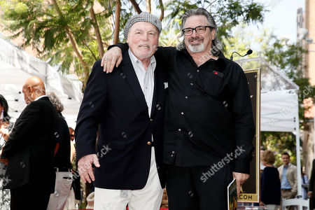 Stacy Keach (L) poses with US actor Robert Carradine during the unveiling ceremony of his star on the Hollywood Walk of Fame, in Hollywood, California, USA, 31 July 2019. Keach received the 2,668th star on the Hollywood Walk of Fame, dedicated in the Category of Television.