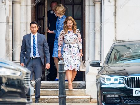 Princess Haya of Jordan arriving at the High Court in relation to 'the welfare of the two children of their marriage' with Sheikh Mohammed the ruler of Dubai.