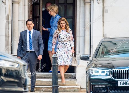 Stock Picture of Princess Haya of Jordan arriving at the High Court in relation to 'the welfare of the two children of their marriage' with Sheikh Mohammed the ruler of Dubai.