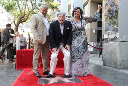 Matt LeBlanc, Stacy Keach, Malgosia Tomassi Keach. Matt LeBlanc, from left, Stacy Keach and Malgosia Tomassi Keach pose atop a star following a ceremony honoring Stacy Keach with a star at the Hollywood Walk of Fame, in Los Angeles