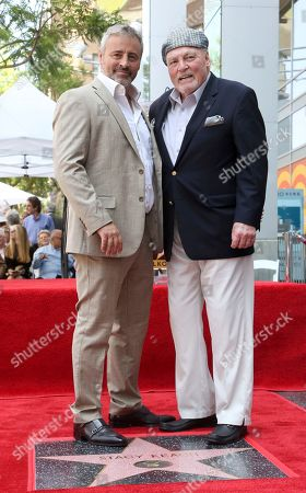 Matt LeBlanc, Stacy Keach. Matt LeBlanc, left, and Stacy Keach pose atop a star following a ceremony honoring Stacy Keach with a star at the Hollywood Walk of Fame, in Los Angeles