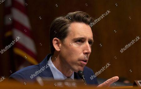 United States Senator Josh Hawley speaks during the U.S. Senate Committee on the Judiciary hearing on Capitol Hill
