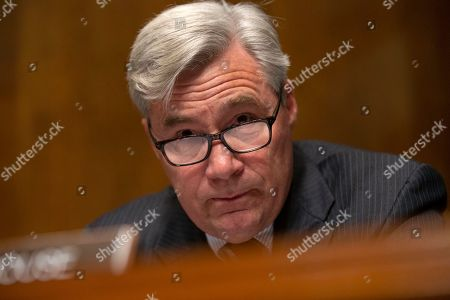 Stock Picture of United States Senator Sheldon Whitehouse speaks during the U.S. Senate Committee on the Judiciary hearing on Capitol Hill