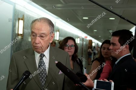 United States Senator Chuck Grassley speaks to the media on Capitol Hill