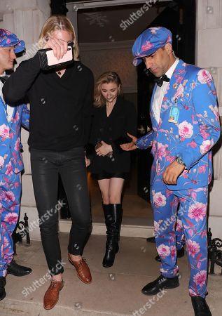 Trevor Duke-Moretz and Chloe Moretz seen leaving Annabel's in Mayfair