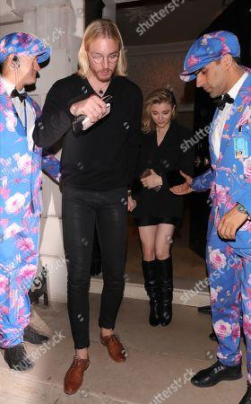 Stock Photo of Trevor Duke-Moretz and Chloe Moretz seen leaving Annabel's in Mayfair