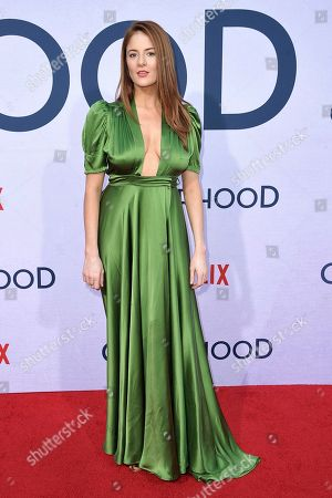 "Emily Tremaine attends a special screening of ""Otherhood,"" at the Egyptian Theatre Hollywood, in Los Angeles"