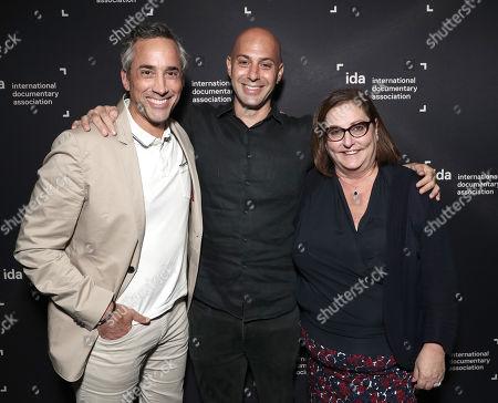 Stock Image of Blumhouse Co-President Jeremy Gold, Director Avi Belkin and Blumhouse Co-President Marci Wiseman