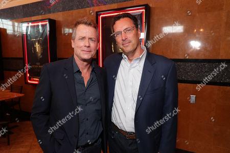 Stock Image of Greg Kinnear and Andrew Karpen - CEO, Bleecker Street