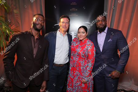 Aldis Hodge, Andrew Karpen - CEO, Bleecker Street, Producer Shivani Rawat and Brian Banks