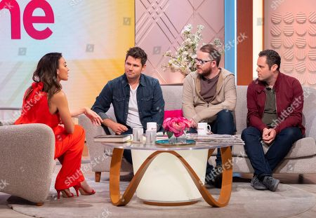 Christine Lampard and Scouting for Girls - Roy Stride, Greg Churchouse and Peter Ellard