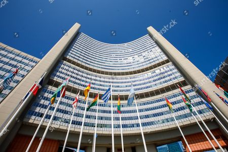 An outside view of the International Atomic Energy Agency (IAEA) headquarters during the board of governors meeting at the IAEA headquarters of the United Nations (UN) seat in Vienna, Austria, 01 August 2019. The board of governors is expected to discuss the successor of Yukiya Amano, the Director General of the International Atomic Energy Agency (IAEA, who died at the age of 72 on 18 July 2019.