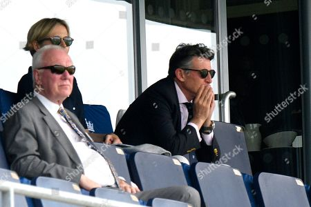 Lord Sebastian Coe watching the drama unfold as England review the lbw chance against Matthew Wade of Australia during the International Test Match 2019 match between England and Australia at Edgbaston, Birmingham