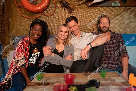 Kirby Howell-Baptiste as Nicole Malloy, Kristen Bell as Veronica Mars, Jason Dohring as Logan Echolls and Ryan Hansen as Dick Casablancas