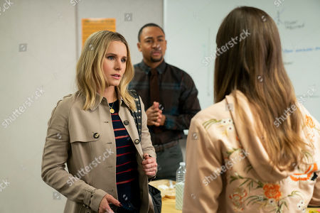 Stock Image of Kristen Bell as Veronica Mars and Percy Daggs III as Wallace Fennel