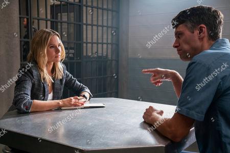 Kristen Bell as Veronica Mars and Ryan Devlin as Mercer Hayes