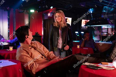 Ken Marino as Vinnie Van Lowe and Kristen Bell as Veronica Mars