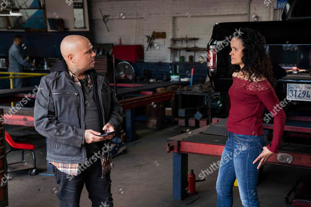 Stock Picture of Francis Capra as Eli 'Weevil' Navarro and Onahoua Rodriguez as Claudia
