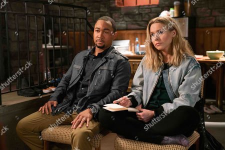Percy Daggs III as Wallace Fennel and Kristen Bell as Veronica Mars