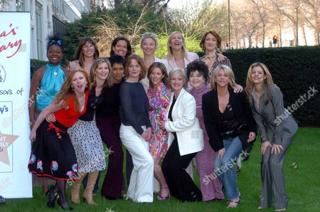 Stock Picture of Front Row (l-r) Carol Decker Julia Carling Kim Vithana Samantha Bond Andrea Catherwood Bernice Nolan Dr. Miriam Stoppard Leslie Ash Dr. Linda Papadopolous Back Row (l-r) Stacey Young Amanda Stretton Floella Benjamin Tamara Beckwith Tania Bryer And Hadyn Gwyn Pictured At Tommy's Parent Friendly Awards.