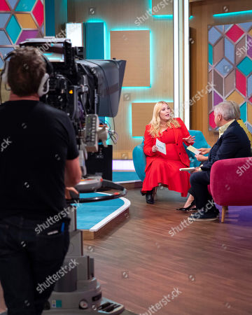 Stock Photo of Eamonn Holmes and Ruth Langsford with Hayley Hasselhoff