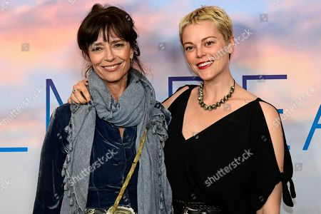 Stock Photo of Australian actress Matilda Brown (R) and her mother English-born Australian actress Rachel Ward pose during the premiere of the Australian film 'Palm Beach' in Sydney, Australia, 01 August 2019. The movie was directed by Rachel Ward.