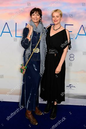 Australian actress Matilda Brown (R) and her mother English-born Australian actress Rachel Ward pose during the premiere of the Australian film 'Palm Beach' in Sydney, Australia, 01 August 2019. The movie was directed by Rachel Ward.