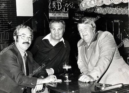 Boxing Writer Reg Gutteridge (left) Pictured With Former Boxers Lew Lazar (centre) And Terry Murphy In Murphy's Pub The Bridge House In Canning Town London.