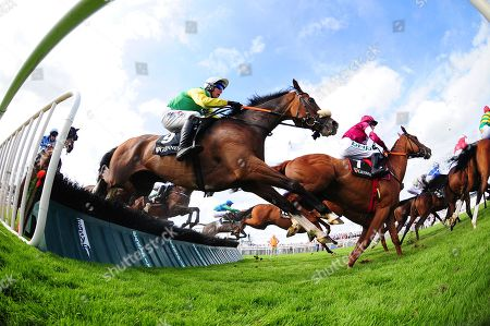 GALWAY. The Guinness Galway Hurdle. TUDOR CITY and jockey Robert Power on their way to winning for trainer Tony Martin.