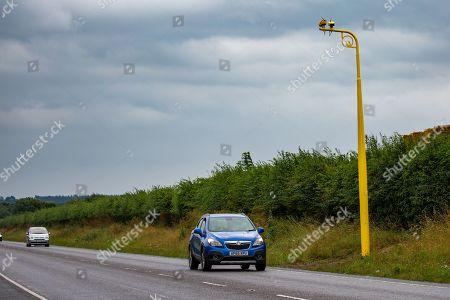 Editorial photo of Speed cameras fitted near Prince Philip crash site, Sandringham, Norfolk, UK - 31 Jul 2019