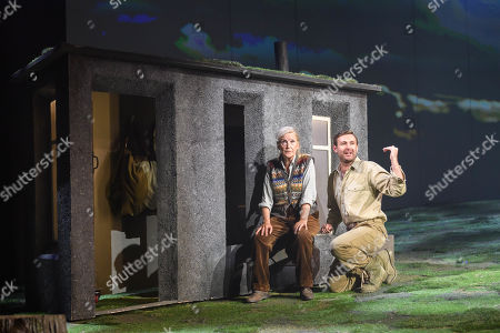 Stock Picture of Ann Louise Ross who Agatha and James McArdle who plays Peter Gynt