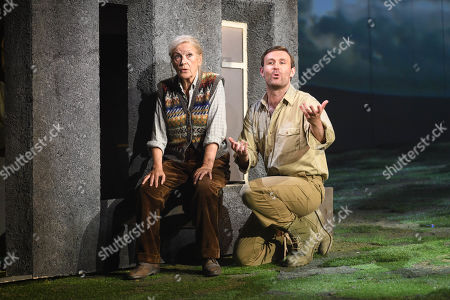 Stock Photo of Ann Louise Ross who Agatha and James McArdle who plays Peter Gynt