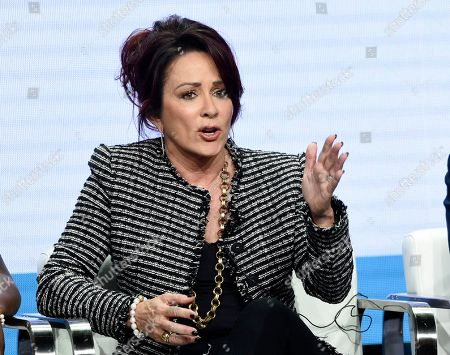 """Patricia Heaton, star/executive producer of the CBS series """"Carol's Second Act,"""" takes part in a panel discussion during the Summer 2019 Television Critics Association Press Tour at the Beverly Hilton, in Beverly Hills, Calif"""