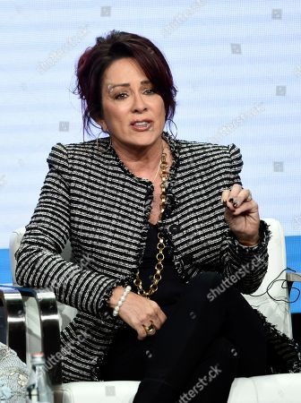 """Patricia Heaton, star/executive producer of the CBS series """"Carol's Second Act,"""" answers a question during the Summer 2019 Television Critics Association Press Tour at the Beverly Hilton, in Beverly Hills, Calif"""