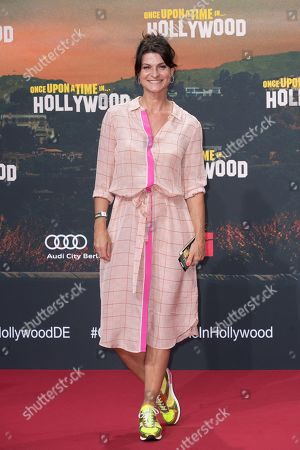 German TV presenter Marlene Lufen poses during the German premiere of 'Once Upon a Time in... Hollywood' in Berlin, Germany, 01 August 2019. The movie opens in German cinemas on 15 August.