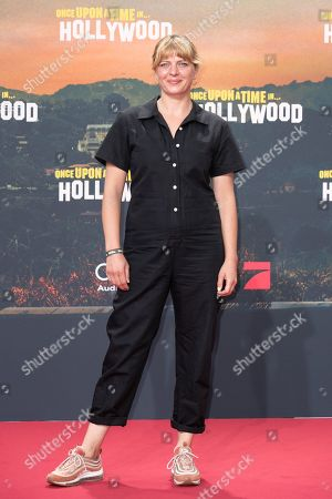 Joerdis Triebel poses during the German premiere of 'Once Upon a Time in... Hollywood' in Berlin, Germany, 01 August 2019. The movie opens in German cinemas on 15 August.