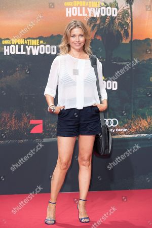 Tina Ruland poses during the German premiere of 'Once Upon a Time in... Hollywood' in Berlin, Germany, 01 August 2019. The movie opens in German cinemas on 15 August.