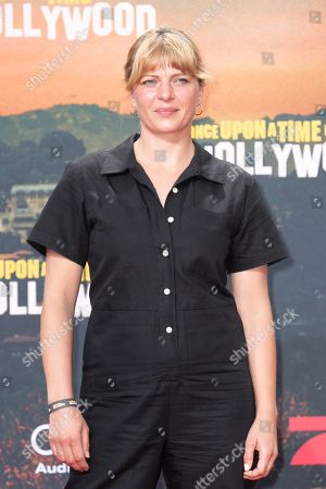 Stock Photo of Joerdis Triebel poses during the German premiere of 'Once Upon a Time in... Hollywood' in Berlin, Germany, 01 August 2019. The movie opens in German cinemas on 15 August.