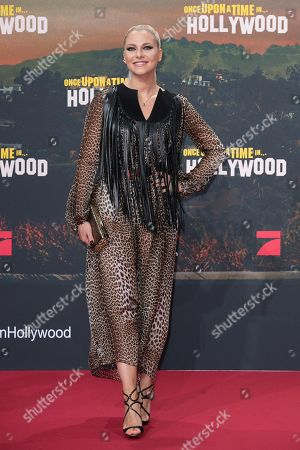 Valentina Pahde poses during the German premiere of 'Once Upon a Time in... Hollywood' in Berlin, Germany, 01 August 2019. The movie opens in German cinemas on 15 August.