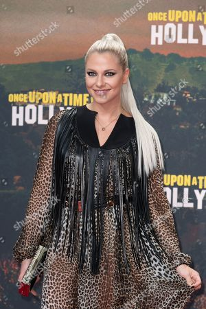 Stock Picture of Valentina Pahde poses during the German premiere of 'Once Upon a Time in... Hollywood' in Berlin, Germany, 01 August 2019. The movie opens in German cinemas on 15 August.