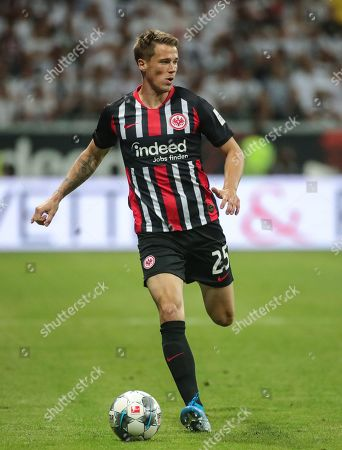 Frankfurt's Erik Durm in action during the UEFA Europa League second qualifying round, second leg soccer match between Eintracht Frankfurt and FC Flora Tallinn in Frankfurt Main, Germany, 01 August 2019.  EPA-EFE/ARMANDO BABANI