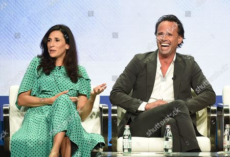 Walton Goggins and Michaela Watkins