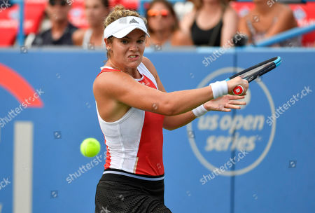 Catherine McNally (USA) defeated Christina McHale 6-3, 1-6, 6-3, at the CitiOpen being played at Rock Creek Park Tennis Center in Washington, DC, . ©Leslie Billman/Tennisclix