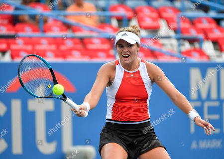 Stock Picture of Catherine McNally (USA) defeated Christina McHale 6-3, 1-6, 6-3, at the CitiOpen being played at Rock Creek Park Tennis Center in Washington, DC, . ©Leslie Billman/Tennisclix