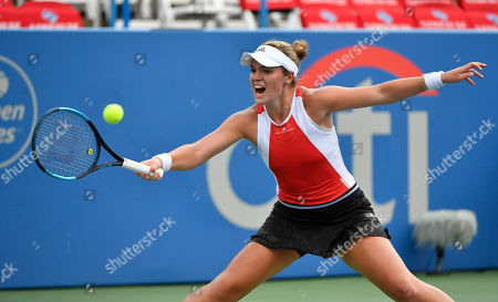 Stock Photo of Catherine McNally (USA) defeated Christina McHale 6-3, 1-6, 6-3, at the CitiOpen being played at Rock Creek Park Tennis Center in Washington, DC, . ©Leslie Billman/Tennisclix